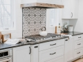 Rustic Kitchen Decorative Hood and Cooktop