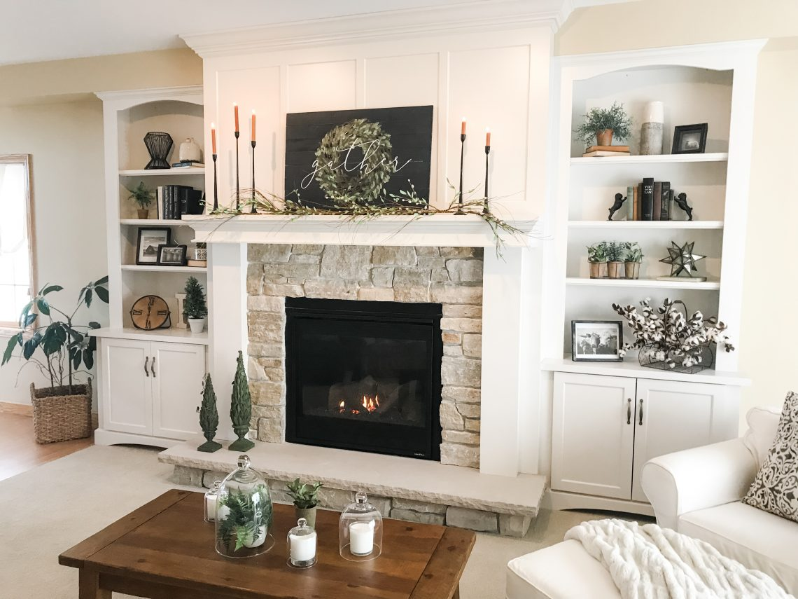 Farmhouse Fireplace Makeover